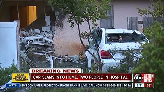 Car crashes into Largo home, two hospitalized