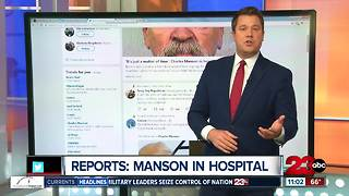 Charles Manson being treated in Bakersfield hospital, according to TMZi
