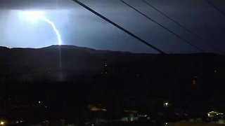 Lightning flashes across San Diego skies