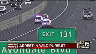 Pursuit ends with arrest in the far West Valley - Video