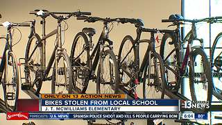 Bikes meant for kids stolen from school - Video