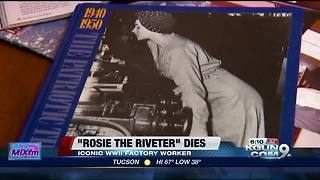 The real-life Rosie the Riveter dies at 96 - Video