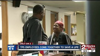TPS employees come together to save a life