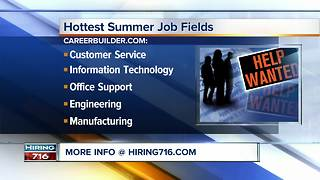 Looking for a summer job? Try these fields