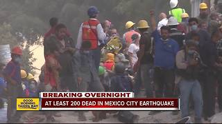 Mexicans dig through collapsed buildings as powerful magnitude 7.1 earthquake killing over 200 - Video