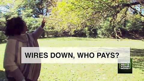Wires down in yard, who pays?