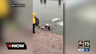 Fire crews speak out after canal rescue in Mesa