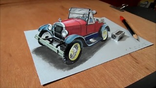 How to draw a 3D Ford model - Video