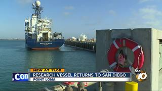 Research vessel returns to San Diego - Video