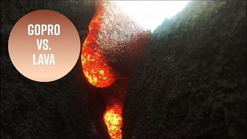 GoPro Camera Filmed Itself Being Swallowed Up By Molten Lava And Survived