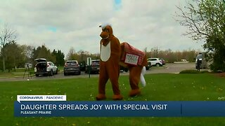 Daughter spreads joy with special visit