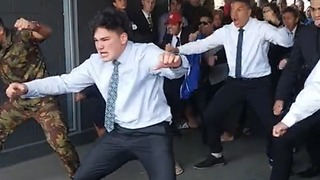 High School Students Perform Haka As A Send-Off For A Lost Friend - Video