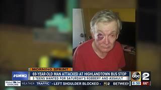 69-year-old Highlandtown man attacked, robbed at bus stop - Video