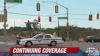 Deputy-involved shooting reported near I-10 and Ruthrauff