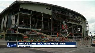 Bucks arena topping off ceremony - Video