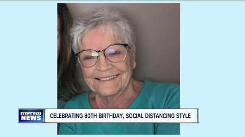 An 80th birthday celebration, social distancing style