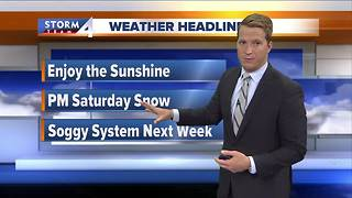 Temperatures stay mild with rain on the way - Video