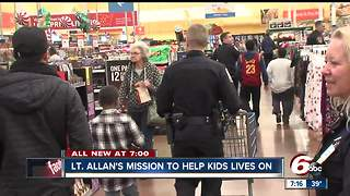 Shop with a cop event honors Lt. Aaron Allan - Video