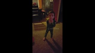 Adorable toddler freaks out about birthday decorations - Video