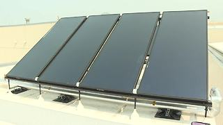 Solar panels provide hot water for Boise Airport - Video