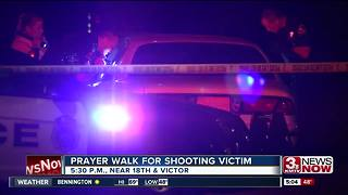 Prayer walk for shooting victim