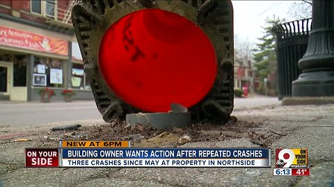 Building owner wants action after crashes