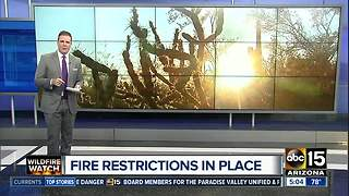 Fire restrictions in place at national parks today - Video