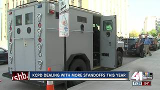 KCPD working more standoffs this year - Video