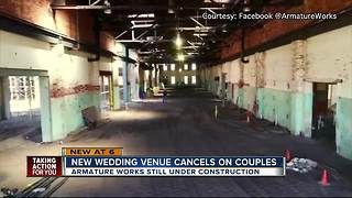 Events venue booking weddings before completion now forced to cancel - Video