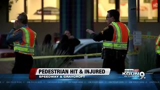 Person has serious injuries after hit by car on the east side - Video