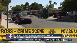 LVMPD searching for suspect after woman shot to death - Video