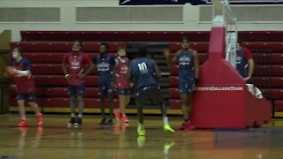 Detroit Mercy men's basketball back to work at Calihan Hall