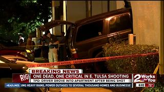 One dead, one critical in east Tulsa shooting - Video