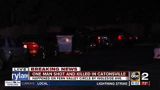 Man shot, killed at a Catonsville apartment - Video