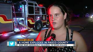 Home explosion in Pasco County - Video