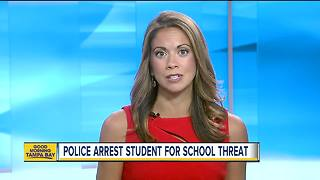 14-year-old middle school student arrested for making threats to school - Video