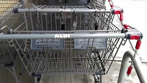 No quarter? No problem! Try this quick and easy Aldi rental cart hack
