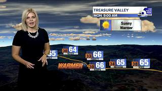A warming trend begins, highs could return to the 70s by Tuesday - Video