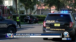 5 injured in Boynton Beach vehicle crash - Video