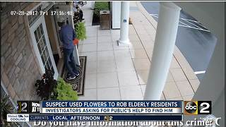 Police looking for suspect who used flowers to gain access to retirement facility