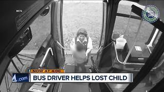 MCTS driver finds lost, cold child wandering without socks or shoes - Video