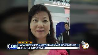Woman walked away from home, now missing - Video