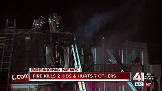 2 children dead, 7 others hurt in Overland Park apartment fire - Video