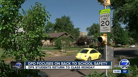 Denver police urge drivers to be careful as school year starts this week
