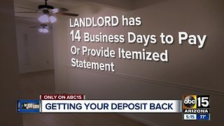 When can a landlord keep your deposit? Here's how to get your deposit back - Video