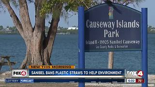 Sanibel bans plastic straws to help environment - Video