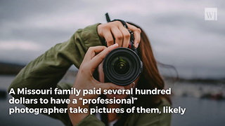 Family Crying Laughing After 5 Pictures from 'Professional' Photo Shoot Arrive - Video