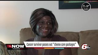 Cancer survivor passes out chemo care packages