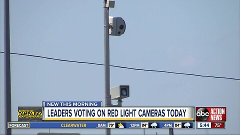 Clearwater City Council to vote on renewal of red light camera contract