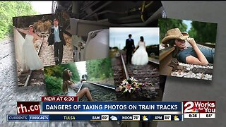 Dangers of taking photos on train tracks